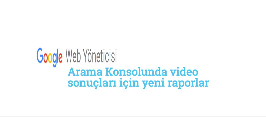 Arama Konsolunda video sonuçları için yeni raporlar