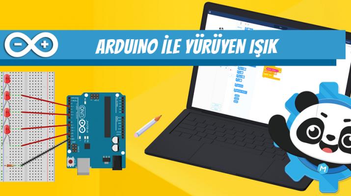 Arduino ile yürüyen ışık